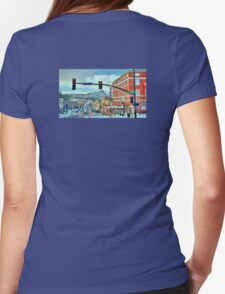 After A Snowstorm In Prescott Arizona  Womens Fitted T-Shirt