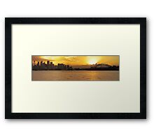 Shadows of a Firey City Framed Print