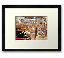modern vibrant city Framed Print