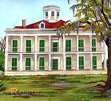 LeBeau Plantation Front View by Elaine Hodges
