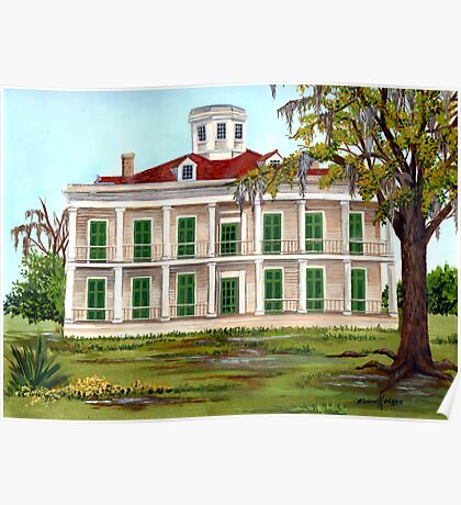 LeBeau Plantation Front View Poster
