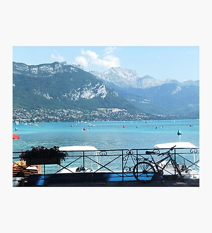 Bicycle Annecy Photographic Print