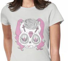 S k u l l ( g i r l ) Womens Fitted T-Shirt