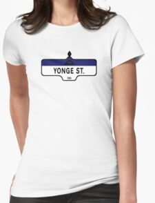 Yonge Street, Toronto Street Sign, Canada Womens Fitted T-Shirt