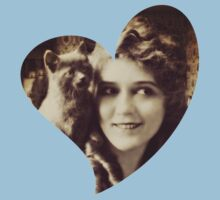 Mary Pickford - Vintage Lady with kitten - Vintage Selfie Kids Clothes