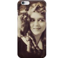 Mary Pickford - Vintage Lady with kitten - Vintage Selfie iPhone Case/Skin
