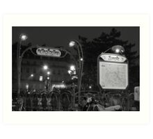 Europe Metro (black and white) Art Print