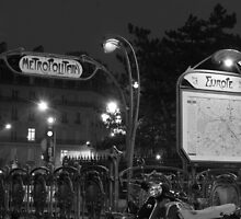 Europe Metro (black and white) by Ray King