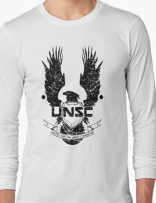 UNSC LOGO HALO 4 - GRUNT DISTRESSED LOOK Long Sleeve T-Shirt