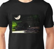 Don't You Hear That Lonesome Whistle Blow? (Surrealist Collage) Unisex T-Shirt