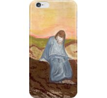 Jesus in prayer iPhone Case/Skin