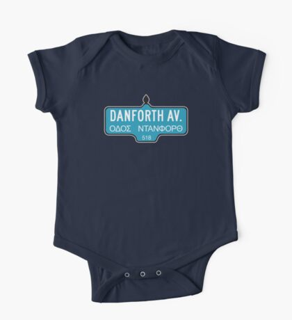 Danforth Avenue, Toronto Street Sign, Canada One Piece - Short Sleeve