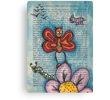 Zombie Butterfly Canvas Print
