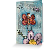 Zombie Butterfly Greeting Card