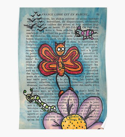 Zombie Butterfly Poster