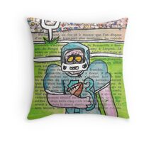 Zombie Football Throw Pillow