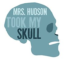 mrs. hudson took my skull Photographic Print