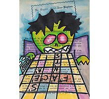Scrabble Zombie Photographic Print