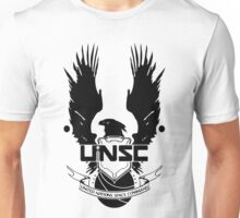 UNSC LOGO HALO 4 - CLEAN LOGO IN BLACK Unisex T-Shirt