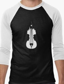 sherlock violin big ben Men's Baseball ¾ T-Shirt