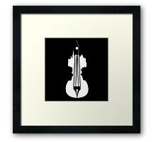 sherlock violin big ben Framed Print