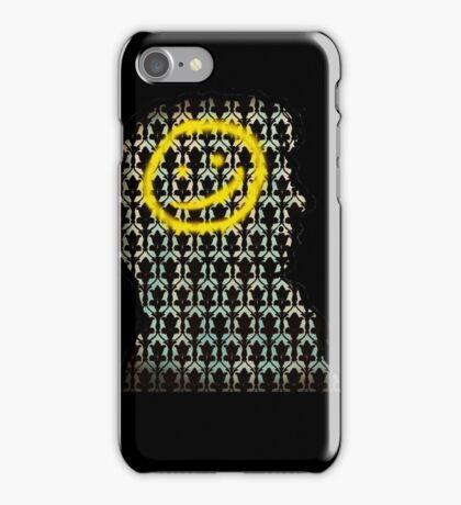 sherlock smiley wallpaper iPhone Case/Skin