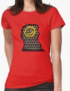 sherlock smiley wallpaper Womens Fitted T-Shirt