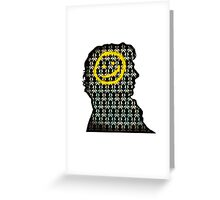 sherlock smiley wallpaper Greeting Card
