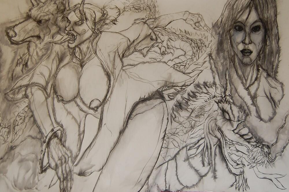 Horny Female Hannya by Joseph Tien