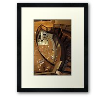 Looking Down the Stairwell Framed Print