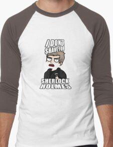 i don't shave for sherlock 1 Men's Baseball ¾ T-Shirt
