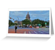 The Protest March from Austin State House  Greeting Card