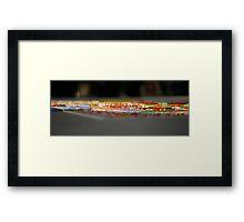 detail, tibetan sand mandala. melbourne, australia  Framed Print