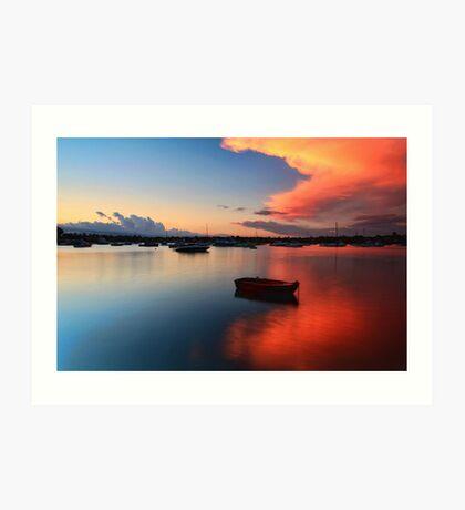 Floating Sunset Art Print