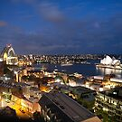 Sydney Harbour Nightscape by jermesky