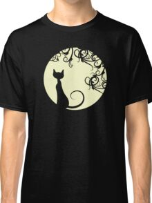 Black cat in the moon Classic T-Shirt