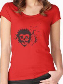 smoking skull Women's Fitted Scoop T-Shirt