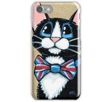 Looking Smart - Patriotic Tuxedo Cat iPhone Case/Skin