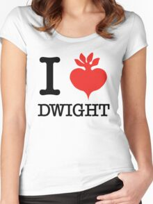 I Beet Dwight  Women's Fitted Scoop T-Shirt