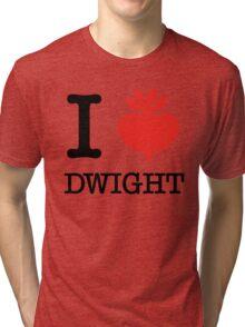 I Beet Dwight  Tri-blend T-Shirt