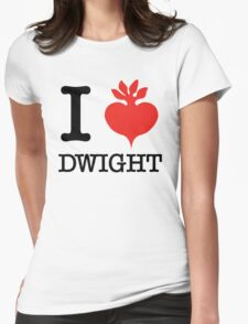 I Beet Dwight  Womens Fitted T-Shirt