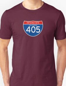 Interstate Sign 405 California, USA T-Shirt