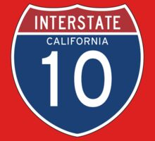 Interstate Sign 10, California, USA Kids Tee