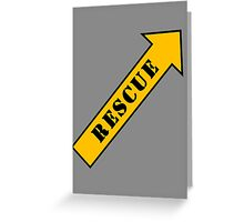 FIGHTER RESCUE Greeting Card