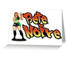Bete Noire - Street Fighter Greeting Card