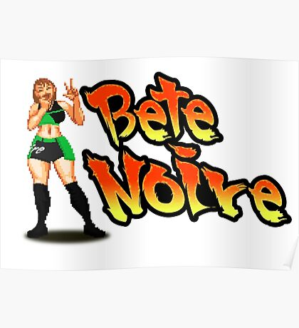 Bete Noire - Street Fighter Poster