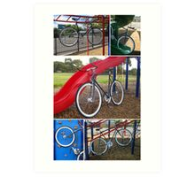 Fixie Playground Collage Art Print