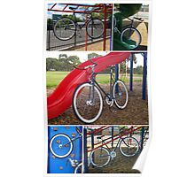 Fixie Playground Collage Poster