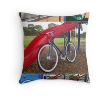 Fixie Playground Collage Throw Pillow
