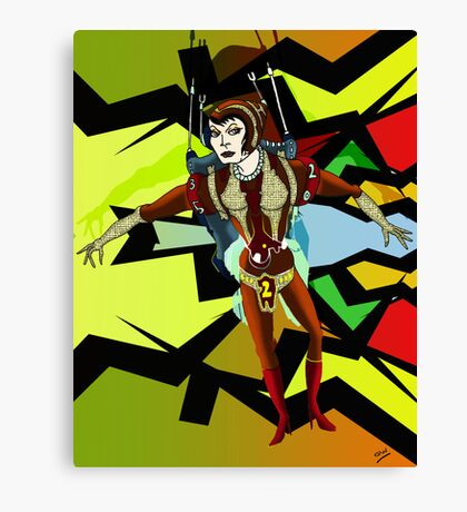 Female Space Warrior Canvas Print